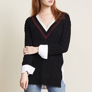 T by Alexander Wang Hybrid Sweater